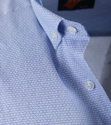 Detail Casual Overhemd S2-1 Blauw Wit