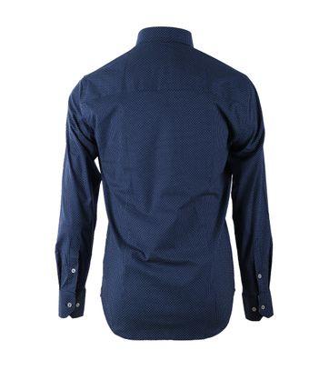 Detail Casual Overhemd S2-7 Navy Groen