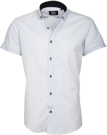 Casual Shirt S5-1 White Blue