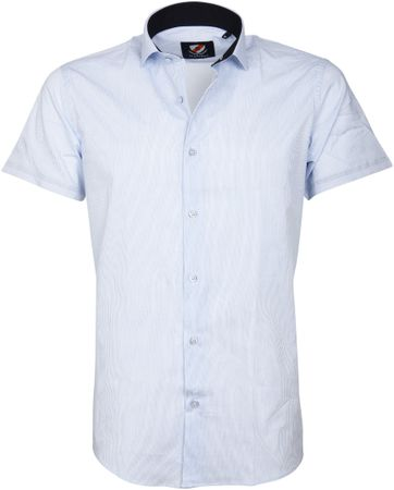 Casual Shirt S5-3 White Blue