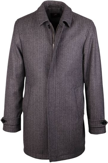 Coat Anthony Herringbone Grey