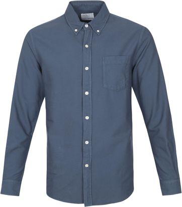 Colorful Standard Hemd Petrol Blau