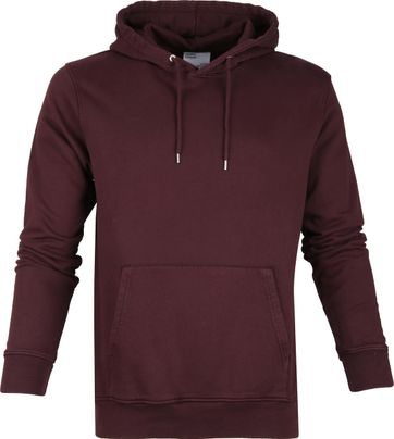 Colorful Standard Organic Hoodie Bordeaux