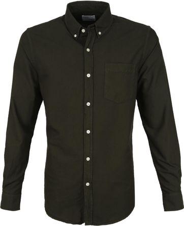 Colorful Standard Overhemd Donkergroen
