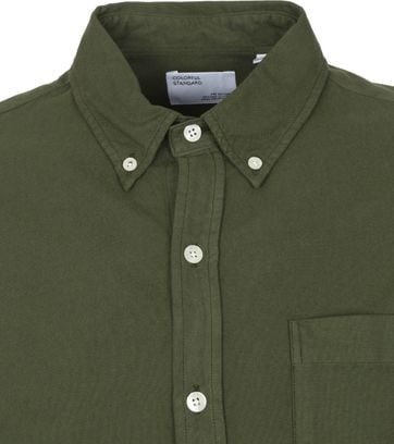Colorful Standard Overhemd Zeewier Groen