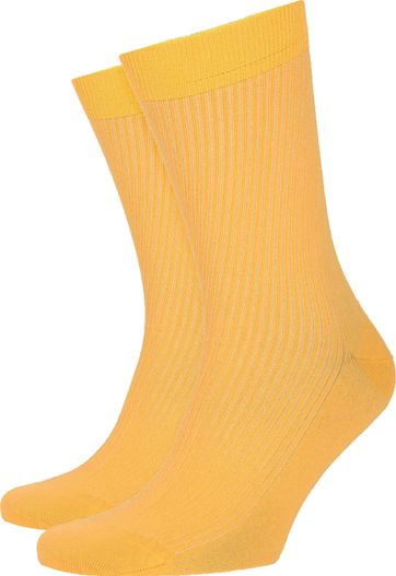 Colorful Standard Socks Burned Yellow