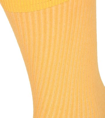 Colorful Standard Socks Burned Yellow