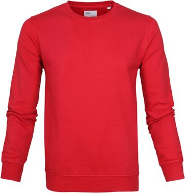 Colorful Standard Sweater Kelly Red