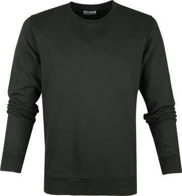 Colorful Standard Sweater Organic Donkergroen