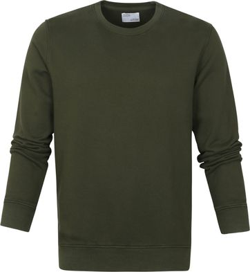 Colorful Standard Sweater Zeewier Groen