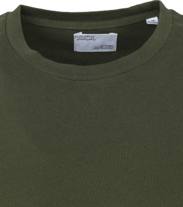 Colorful Standard T-shirt Donkergroen