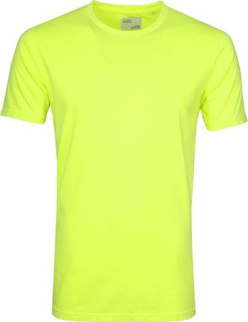 Colorful Standard T-shirt Neon Geel