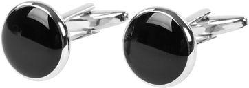 Cufflinks Black Round NR37