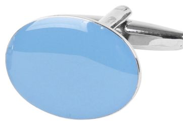 Cufflinks Light Blue Oval NR100