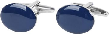 Cufflinks Navy Oval
