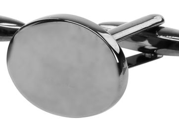 Cufflinks Oval Dark Grey NR96
