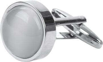 Cufflinks Round Grey