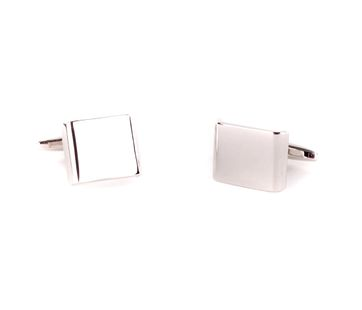 Cufflinks Silver Rectangle
