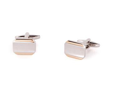 Cufflinks Silver/Gold Striped