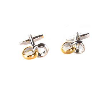Cufflinks Weddingrings Silver + Gold