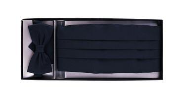 Cumberband + Bow Tie Dark Blue