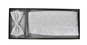 Detail Cumberband + Strik Zilver Print