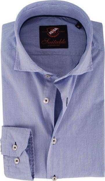 Cutaway Shirt Blue stripes
