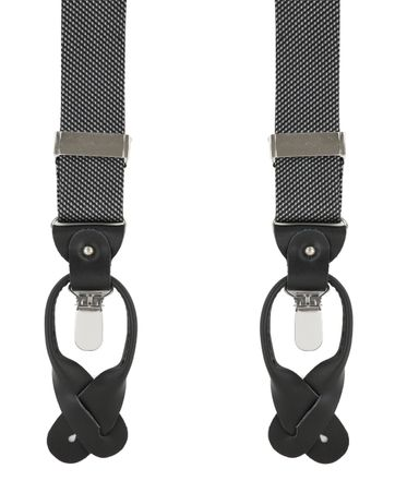 Dark Grey Suspenders Silk