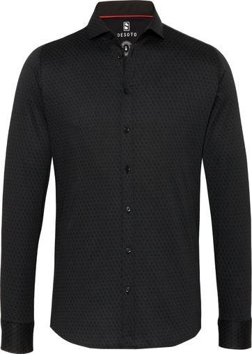Desoto Hai Overhemd Zwart Patroon