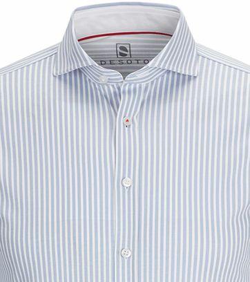 Desoto Hemd Bügelfrei Hellblau Streifen