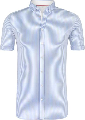 DESOTO Hemd Bügelfrei Streifen Blau