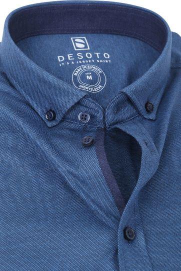 Desoto Modern SS Hemd Indigo Blauw 511