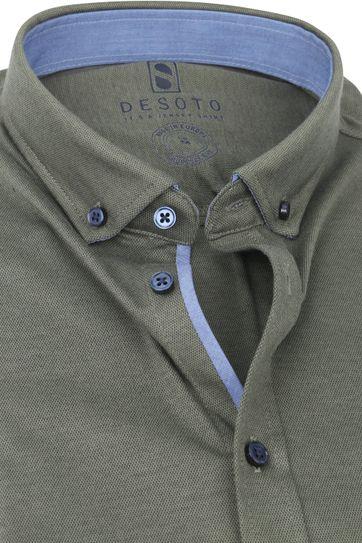 Desoto Modern SS Overhemd Donkergroen 604