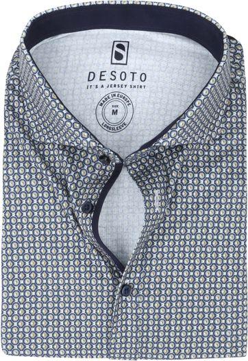 Desoto New Hai Overhemd Stippen  Groen