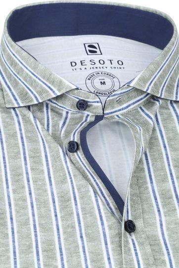 Desoto New Hai Overhemd Strepen Groen