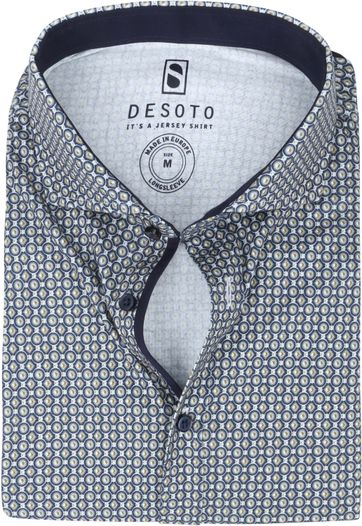 Desoto New Hai Shirt Dots Green