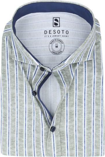 Desoto New Hai Shirt Stripes Green