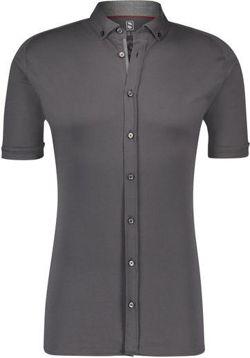 Desoto Overhemd Korte Mouw Antraciet 083