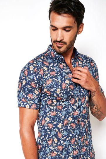 Desoto Overhemd Korte Mouw Bloemen