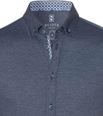 Desoto Overhemd Korte Mouw Donkerblauw 501