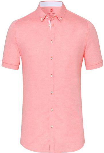 Desoto Overhemd Korte Mouw Rood 032