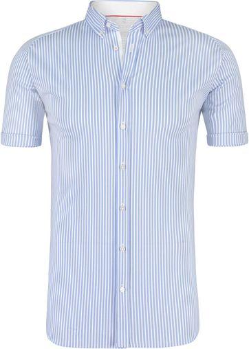 Desoto Overhemd Korte Mouw Streep Blauw
