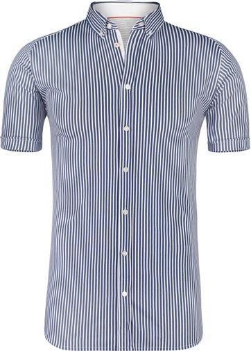 Desoto Overhemd Korte Mouw Streep Navy