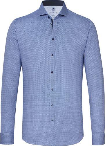Desoto Overhemd New Hai Origami Blau
