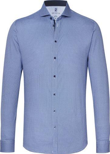 Desoto Overhemd New Hai Origami Blauw