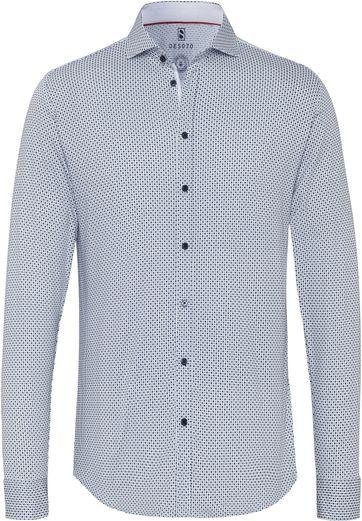 Desoto Overhemd Strijkvrij Blauw 158