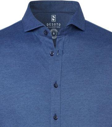 Desoto Overhemd Strijkvrij Blauw 511