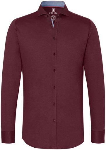 Desoto Overhemd Strijkvrij Bordeaux 301