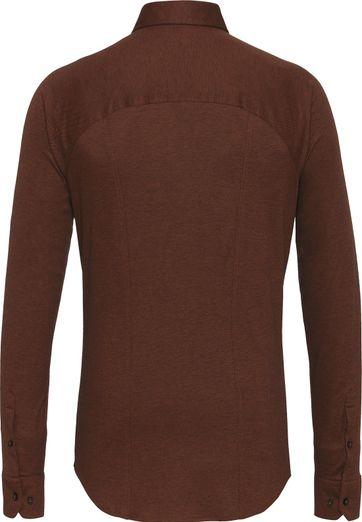 Desoto Overhemd Strijkvrij Bruin