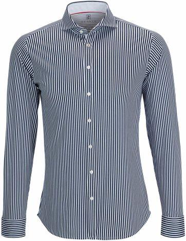 Desoto Overhemd Strijkvrij Donkerblauw Streep